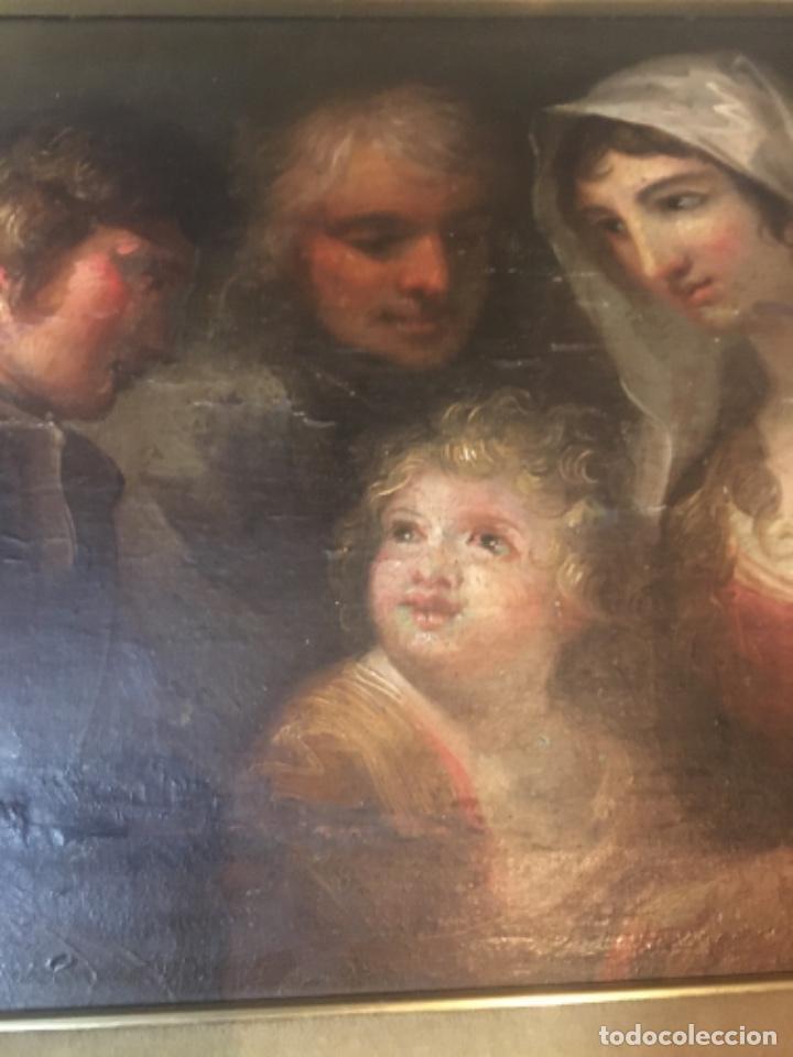 Arte: (M-R/C) ANTIGUA PINTURA AL OLEO SOBRE TABLA DE MADERA S. XVIII - original de la època , no reproducc - Foto 8 - 221647915
