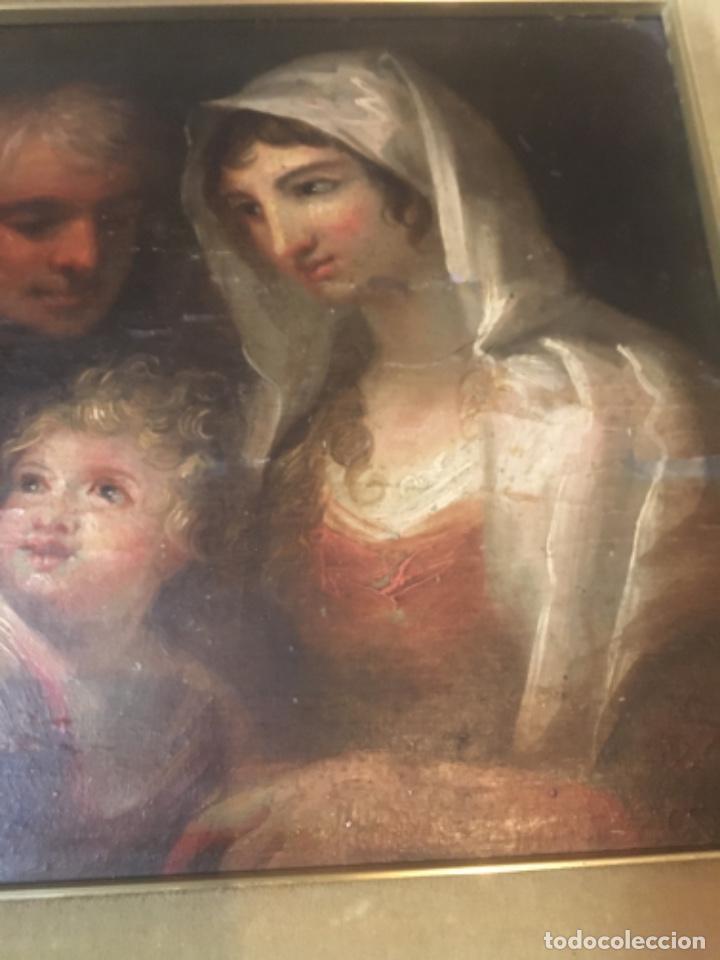 Arte: (M-R/C) ANTIGUA PINTURA AL OLEO SOBRE TABLA DE MADERA S. XVIII - original de la època , no reproducc - Foto 9 - 221647915