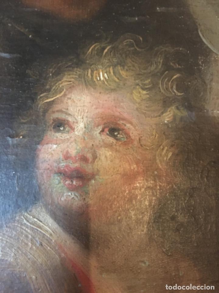 Arte: (M-R/C) ANTIGUA PINTURA AL OLEO SOBRE TABLA DE MADERA S. XVIII - original de la època , no reproducc - Foto 10 - 221647915