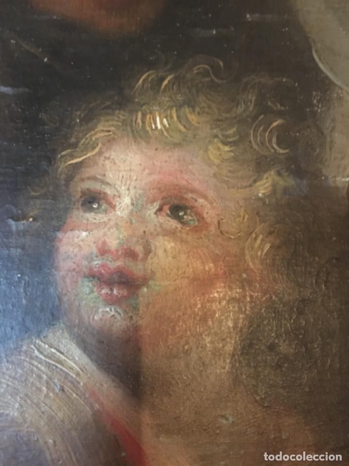 Arte: (M-R/C) ANTIGUA PINTURA AL OLEO SOBRE TABLA DE MADERA S. XVIII - original de la època , no reproducc - Foto 11 - 221647915