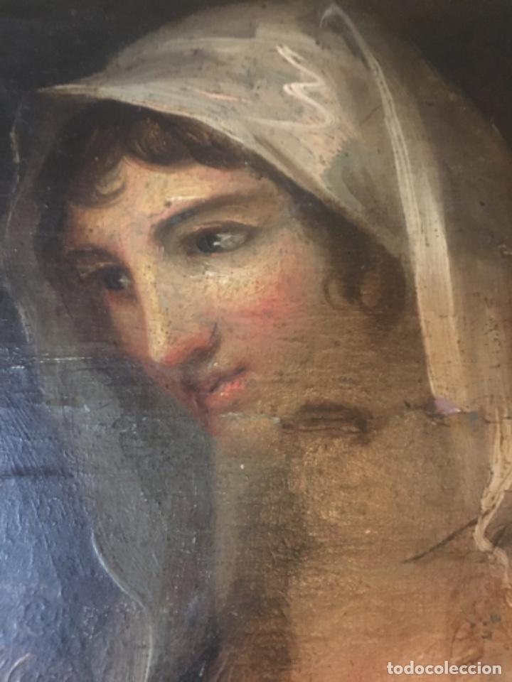Arte: (M-R/C) ANTIGUA PINTURA AL OLEO SOBRE TABLA DE MADERA S. XVIII - original de la època , no reproducc - Foto 12 - 221647915