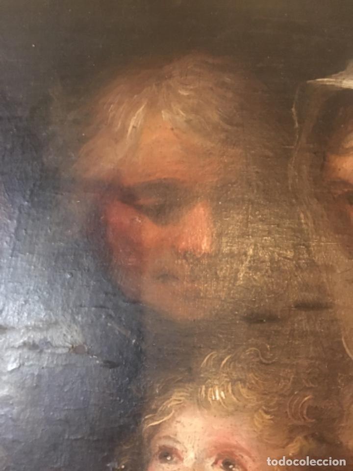 Arte: (M-R/C) ANTIGUA PINTURA AL OLEO SOBRE TABLA DE MADERA S. XVIII - original de la època , no reproducc - Foto 13 - 221647915