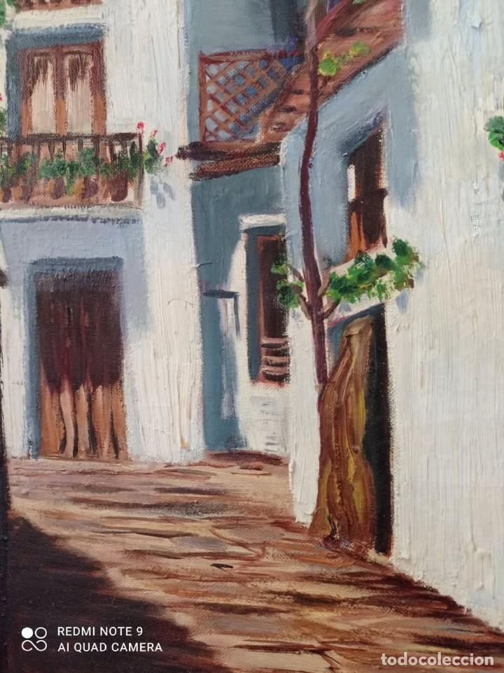 Arte: OLEO SOBRE LIENZO CALLE DE PUEBLO - Foto 2 - 221648880