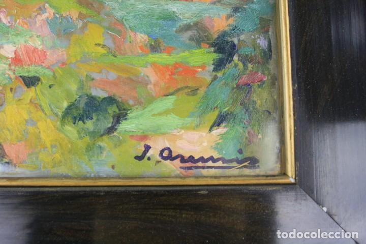 Arte: Joaquin Asensio, paisaje, pintura al óleo sobre madera, firmado, con marco. 26x22cm - Foto 3 - 221653348