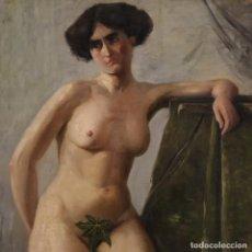 Arte: PINTURA ITALIANA FIRMADA DESNUDO FEMENINO EN ESTILO IMPRESIONISTA. Lote 221677187