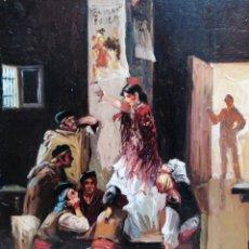Arte: ESCENA DE TABERNA. MARIO LEAL CARRAGAL. Lote 221696455
