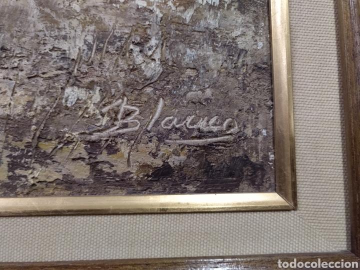 Arte: Óleo sobre lienzo los segadores firmado Blanco. PF - Foto 4 - 195677386