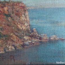 Arte: GUILLERMO GOMEZ GIL (MALAGA, 1862- CADIZ, 1942). PAISAJE COSTERO CON ACANTILADO. Lote 221726301