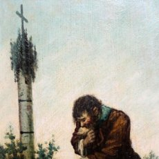 Arte: JOAQUIM ESPALTER Y RULL (SITGES, BARCELONA, 1809 - MADRID, 1880) OLEO TABLA. CRUZ DE TERMINO. Lote 221730428