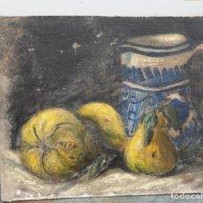 Arte: OLEO ANTIGUO SOBRE TABLA BODEGON DE 26 X 32. Lote 221866841