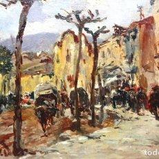 Arte: JH. SFINDER. OLEO SOBRE CARTON DE APROXIMADAMENTE 1900. ESCENA RURAL. Lote 221874657