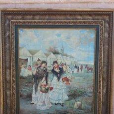 Arte: NARCIS JULIÁ : FERIA DE SEVILLA, ÓLEO SOBRE TELA, FIRMADO, COSTUMBRISTA, HACIA 1900. Lote 221881097