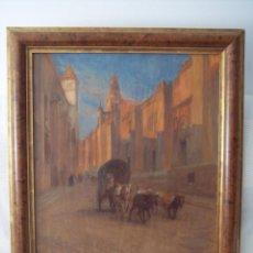 Arte: DOMINIQUE CHARLES FOUQUERAY : VISTA DE LA MEZQUITA DE CÓRDOBA, CALLE TORRIJOS, FIRMADO, 1912. Lote 221882205
