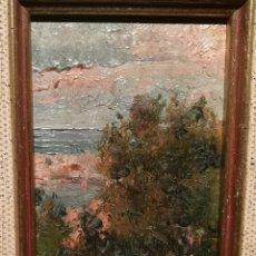 Arte: PAISAJE COSTERO POR SEGUNDO MATILLA (1862-1937). Lote 221891968