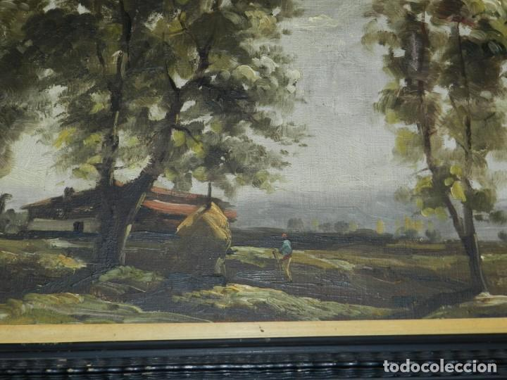 Arte: (M) RAFAEL FERNÁNDEZ DE SOTO ANTIGUO PAISAJE ÓLEO SOBRE TELA OLOT MCMXLVII DE SOTO . - Foto 4 - 221901863