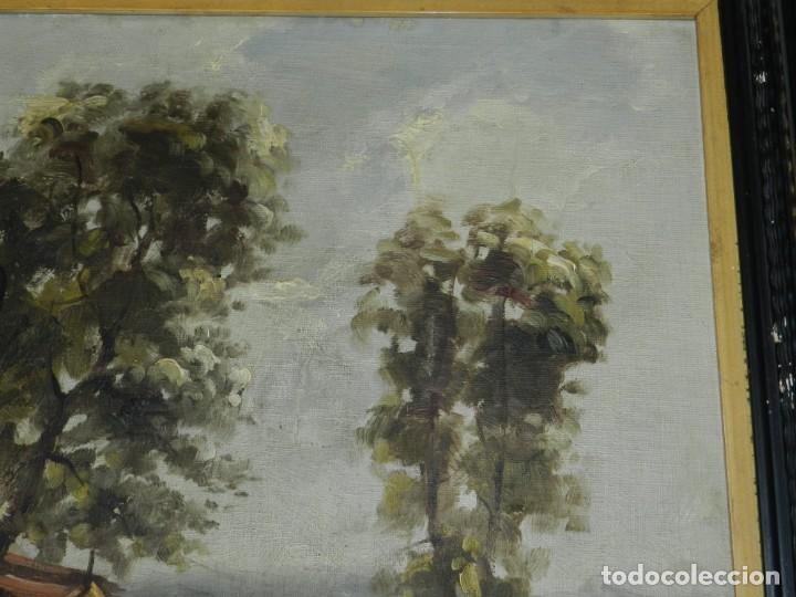 Arte: (M) RAFAEL FERNÁNDEZ DE SOTO ANTIGUO PAISAJE ÓLEO SOBRE TELA OLOT MCMXLVII DE SOTO . - Foto 6 - 221901863