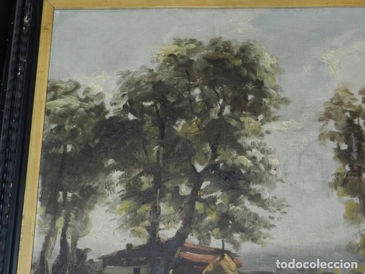 Arte: (M) RAFAEL FERNÁNDEZ DE SOTO ANTIGUO PAISAJE ÓLEO SOBRE TELA OLOT MCMXLVII DE SOTO . - Foto 7 - 221901863