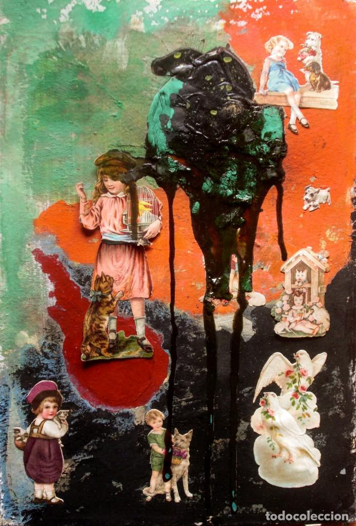 BARTOMEU MASSOT (1923-1974) (ATR.). COLLAGE Y ÓLEO/CARTÓN 30 X 20,5 CM. (Arte - Pintura - Pintura al Óleo Contemporánea )