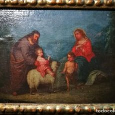 Arte: SAGRADA FAMILIA CON SAN JUAN BAUTISTA NIÑO. Lote 221932943