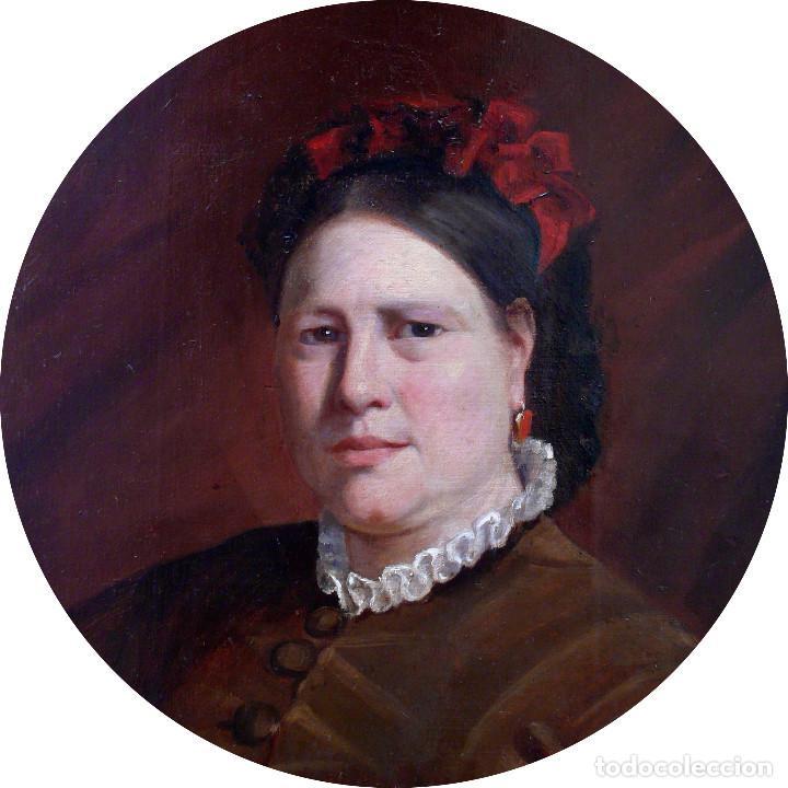 Arte: COLLINET JOSEPH PORTRAIT FEMME WOMAN S.XIX MAGNIFICO GRAN RETRATO DE MUJER JOVEN OLEO MARCO DORADO - Foto 3 - 221955420