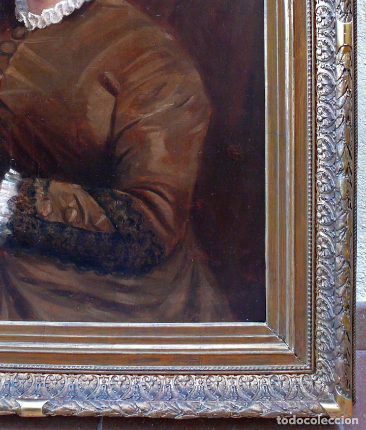 Arte: COLLINET JOSEPH PORTRAIT FEMME WOMAN S.XIX MAGNIFICO GRAN RETRATO DE MUJER JOVEN OLEO MARCO DORADO - Foto 6 - 221955420