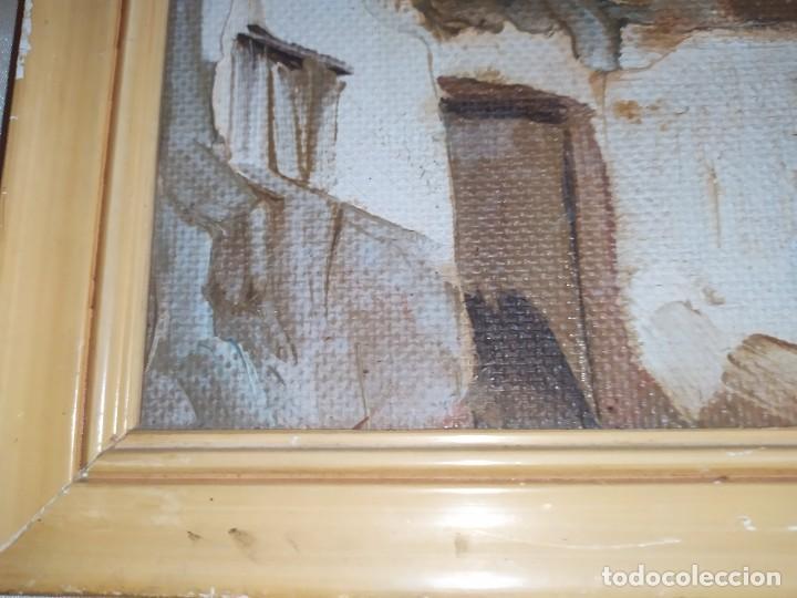 Arte: OLEO SOBRE TABLA PAISAJE PUEBLO CASAS FIRMA ILEGIBLE SE AGRADECE INFORMACIÓN - Foto 16 - 221980705