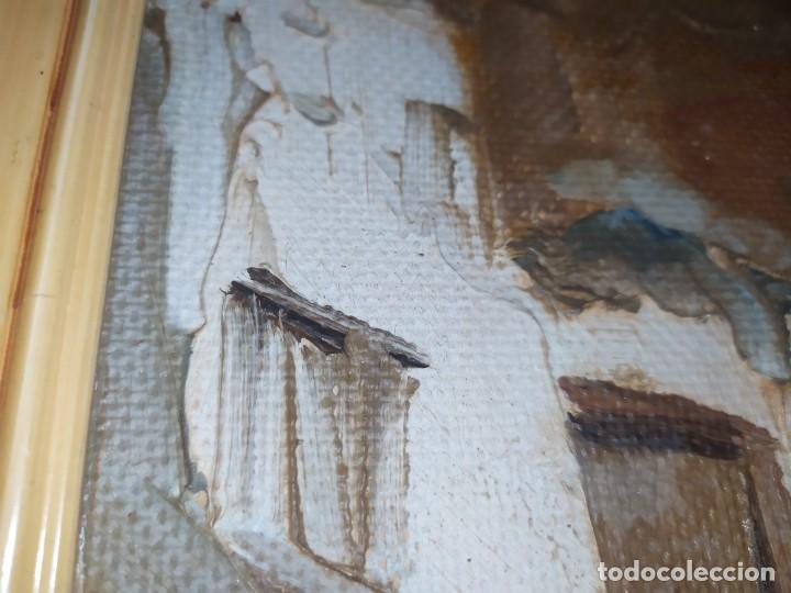 Arte: OLEO SOBRE TABLA PAISAJE PUEBLO CASAS FIRMA ILEGIBLE SE AGRADECE INFORMACIÓN - Foto 17 - 221980705