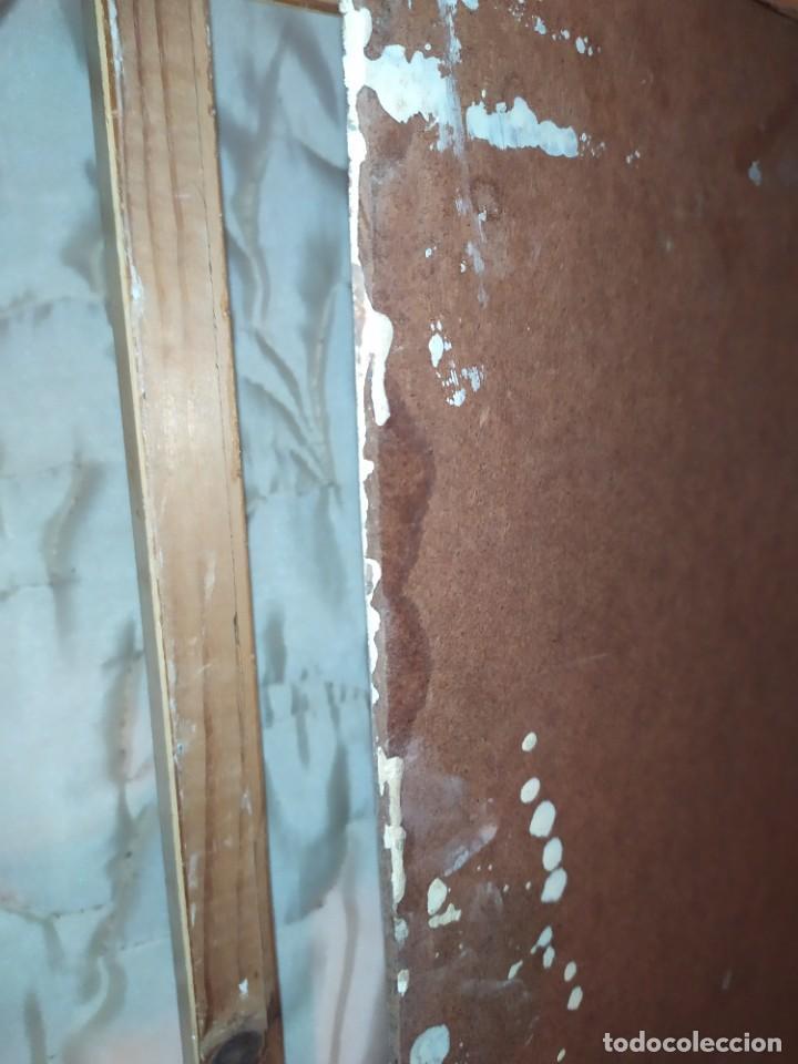 Arte: OLEO SOBRE TABLA PAISAJE PUEBLO CASAS FIRMA ILEGIBLE SE AGRADECE INFORMACIÓN - Foto 19 - 221980705