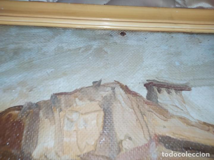 Arte: OLEO SOBRE TABLA PAISAJE PUEBLO CASAS FIRMA ILEGIBLE SE AGRADECE INFORMACIÓN - Foto 22 - 221980705