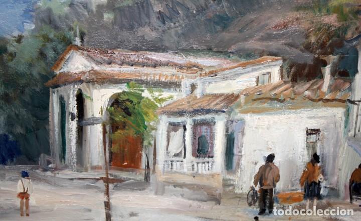 Arte: AGUSTIN RIO NAVARRO (BARCELONA, 1923-1997) OLEO SOBRE TELA. PAISAJE COSTERO CON FIGURAS - Foto 4 - 221987956