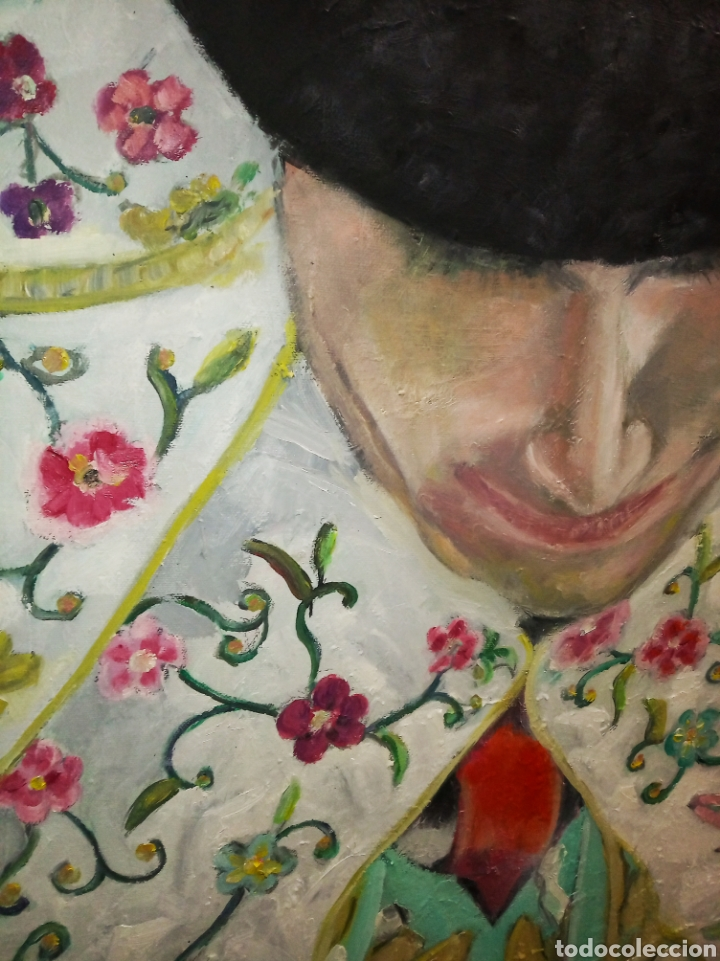 Arte: Cuadro grande óleo sobre lienzo torero impresionista tauromaquia toros Jesús Javier Arias - Foto 2 - 222087227