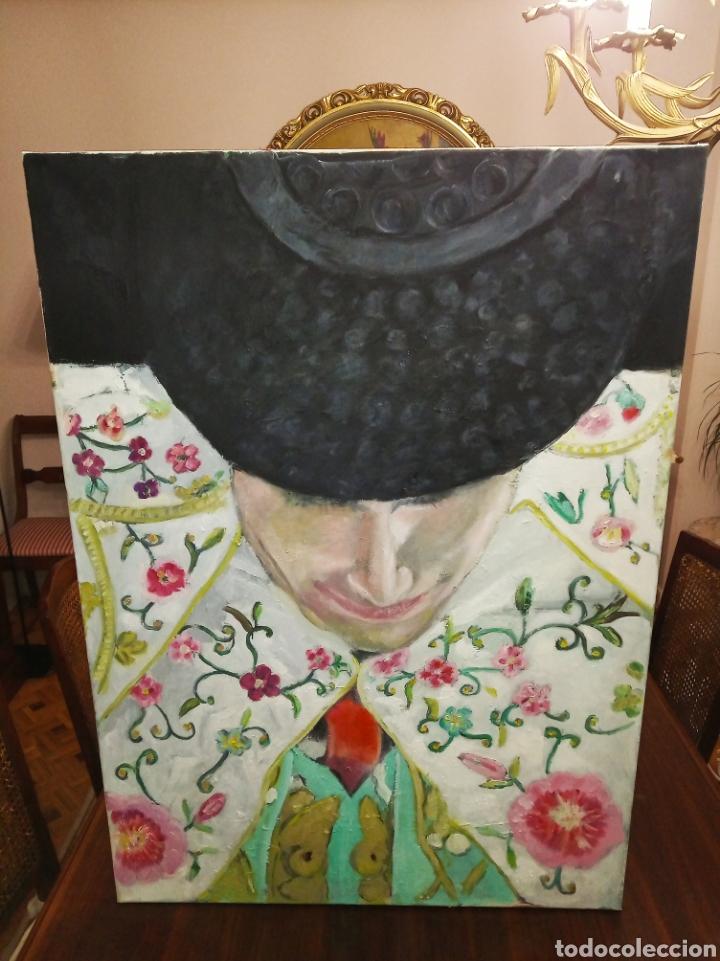 CUADRO GRANDE ÓLEO SOBRE LIENZO TORERO IMPRESIONISTA TAUROMAQUIA TOROS JESÚS JAVIER ARIAS (Arte - Pintura Directa del Autor)