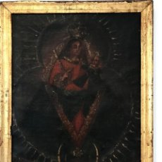 Arte: ÓLEO DEL SIGLO XVIII - VIRGEN CON NIÑO - 71X52X3CM. Lote 222095861