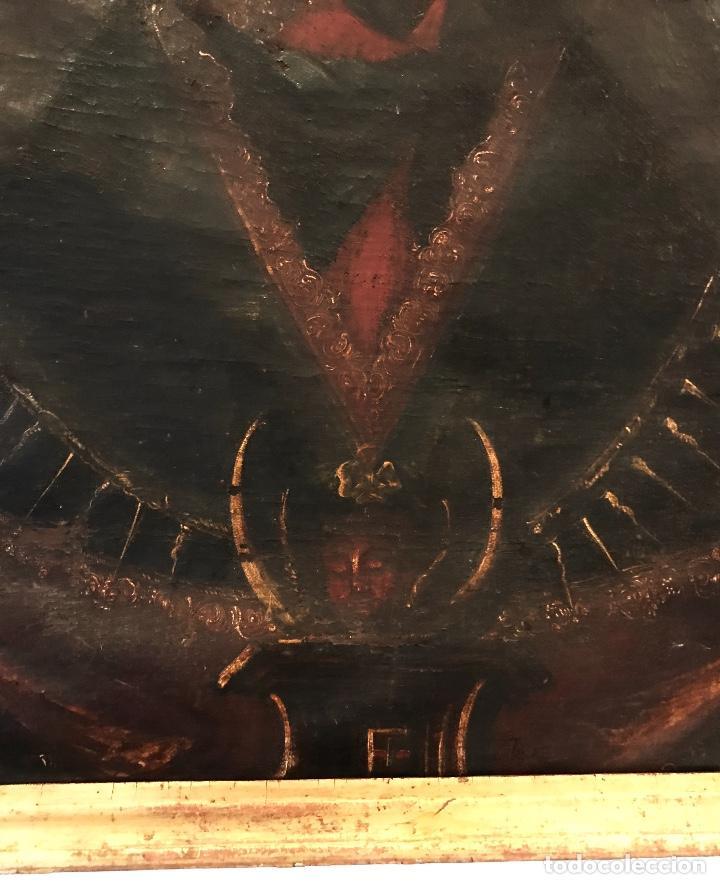 Arte: óleo del Siglo XVIII - Virgen con niño - 71x52x3cm - Foto 3 - 222095861