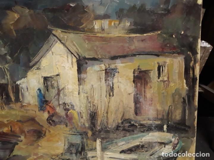 Arte: Pintura al óleo de la playa de Vilassar de Mar. Firmado Isabel Braganza - Foto 7 - 222145832