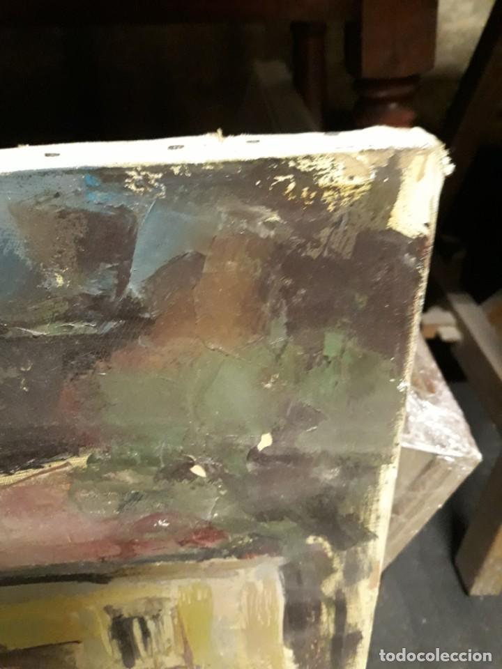 Arte: Pintura al óleo de la playa de Vilassar de Mar. Firmado Isabel Braganza - Foto 11 - 222145832