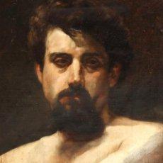 Arte: AUTORÍA DESCONOCIDA D APROXIMADAMENTE 1890-1900. RETRATO MASCULINO DE ALTA CALIDAD. SANTIAGO RUSIÑOL. Lote 222161508