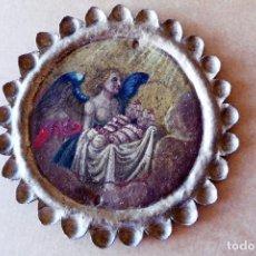 Arte: PINTURA AL ÓLEO SOBRE COBRE - COBRE - ANGEL Y NIÑOS. Lote 222295178