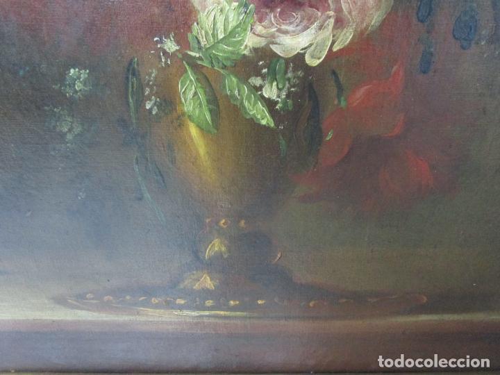 Arte: Pareja de Bodegones - Escuela Española - Bodegón Estilo Juan Arellano - Óleo sobre Tela - S. XVIII - Foto 4 - 222306911
