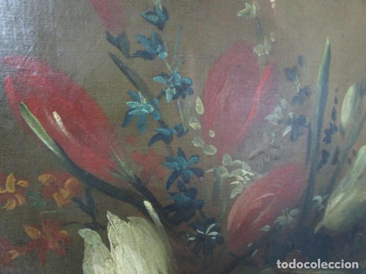 Arte: Pareja de Bodegones - Escuela Española - Bodegón Estilo Juan Arellano - Óleo sobre Tela - S. XVIII - Foto 10 - 222306911