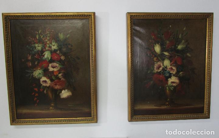 Arte: Pareja de Bodegones - Escuela Española - Bodegón Estilo Juan Arellano - Óleo sobre Tela - S. XVIII - Foto 21 - 222306911