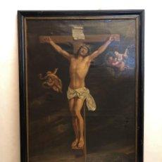 Arte: TALLER DE WILLEM JACOB HERREYNS ( 1743 - 1827 ) CRISTO CRUCIFICADO, ÓLEO SOBRE LIENZO.. Lote 222315441