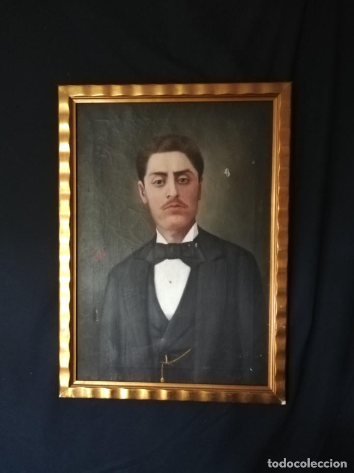 RETRATO CABALLERO INGLES S.XIX FIRMADO (Arte - Pintura - Pintura al Óleo Moderna siglo XIX)