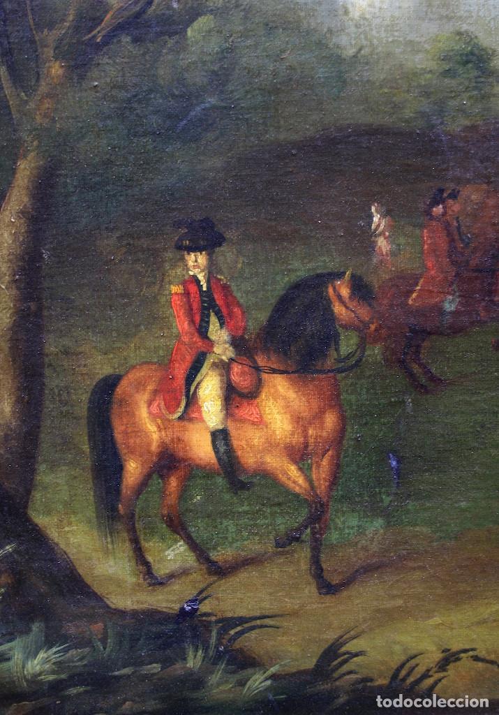 Arte: Escena de campo, pintura al óleo sobre tela, con marco. 99x71,5cm - Foto 3 - 222333965
