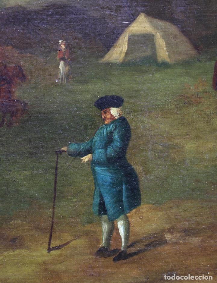 Arte: Escena de campo, pintura al óleo sobre tela, con marco. 99x71,5cm - Foto 4 - 222333965