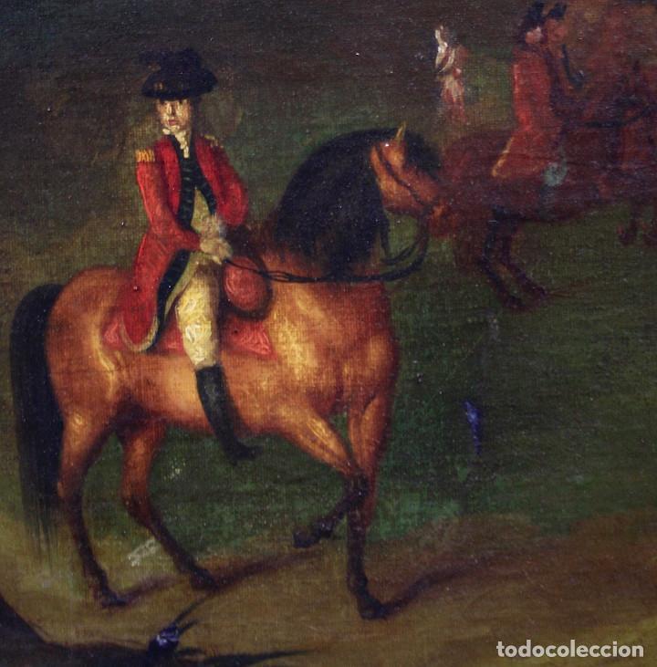 Arte: Escena de campo, pintura al óleo sobre tela, con marco. 99x71,5cm - Foto 5 - 222333965