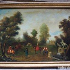 Arte: ESCENA DE CAMPO, PINTURA AL ÓLEO SOBRE TELA, CON MARCO. 99X71,5CM. Lote 222333965