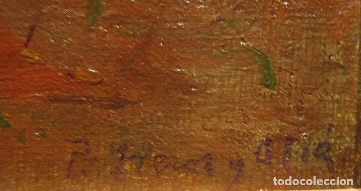 Arte: PERE YSERN ALIÉ. NOTA DE PAISAJE. OLEO SOBRE TELA. 19 X 11 CM - Foto 2 - 222350858