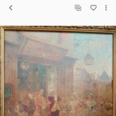 Arte: CUADRO EL ANTICUARIO AL OLEO MUY ANTIGUO ESCENA GALANTE....SIGLO XVIII ? APROX. Lote 222396032
