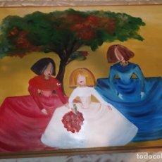 Arte: GRAN OLEO SOBRE LIENZO FIRMADO LUIS RODRÍGUEZ MENINAS VELÁZQUEZ POP ART? PRECIOSO ÚNICO. Lote 222464448